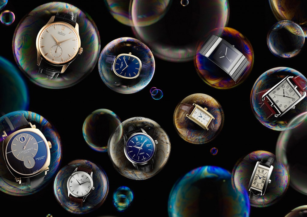 watches and jewellery, watches in bubbles, watch photography, fashion accessories, luxury accessories, still life photography, David Parfitt, still-life, still-life photography, still-life photographer, still-life photographer London, David Parfitt