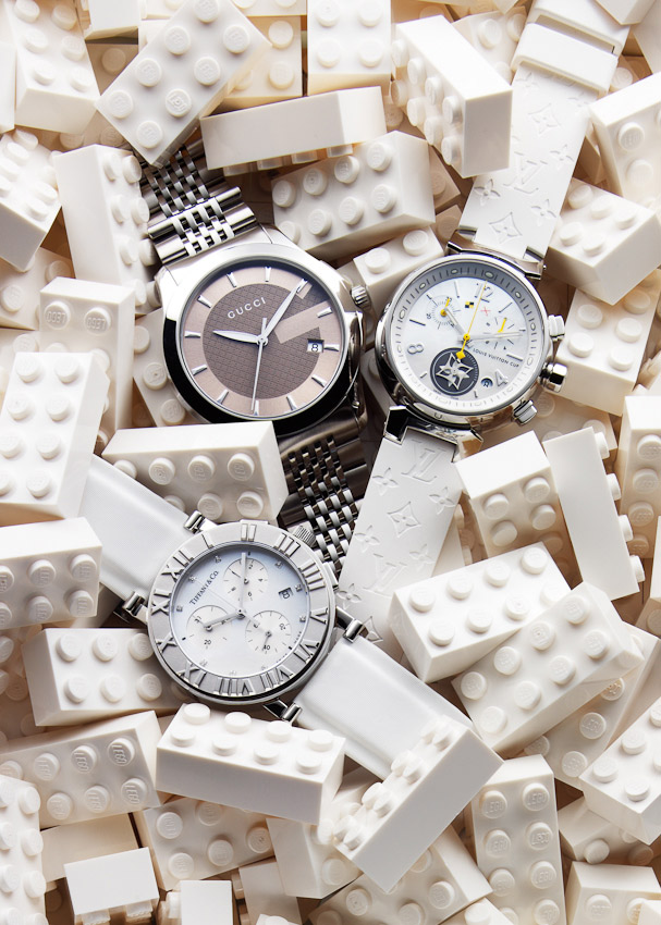 Watches, lego blocks, still-life for Marie Claire, still-life, still-life photography, still-life photographer London, luxury fashion accessories, Luxury fashion photography London, watch photography, watch photographer, watches and jewellery photographer London, David Parfitt