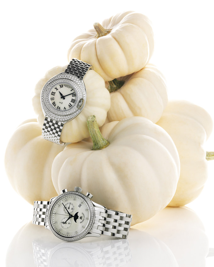 watches and pumpkins, Square Meal watches and jewellery still life, watches and jewellery, luxury accessories, watch photography, mens and women's accessories photography, still life photography, David Parfitt, still-life, still-life photography, still-life photographer, still-life photographer London, David Parfitt, advertising photographer