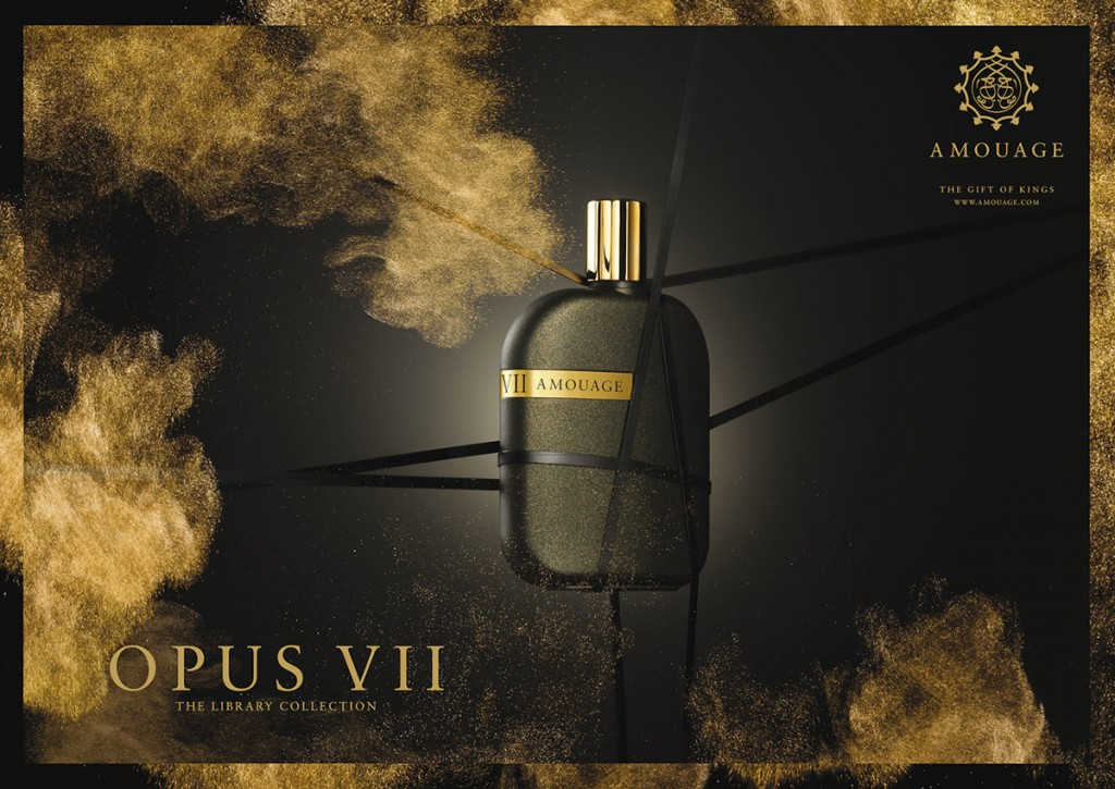 Amouage Opus perfume, ribbons, bondage, gold dust, still-life, fragrance photography, fragrance photographer, fragrance photographer London, still-life photography, still-life photographer, still-life photographer London, advertising photography, advertising photographer London, luxury fragrance campaign, luxury fragrance advertising, David Parfitt