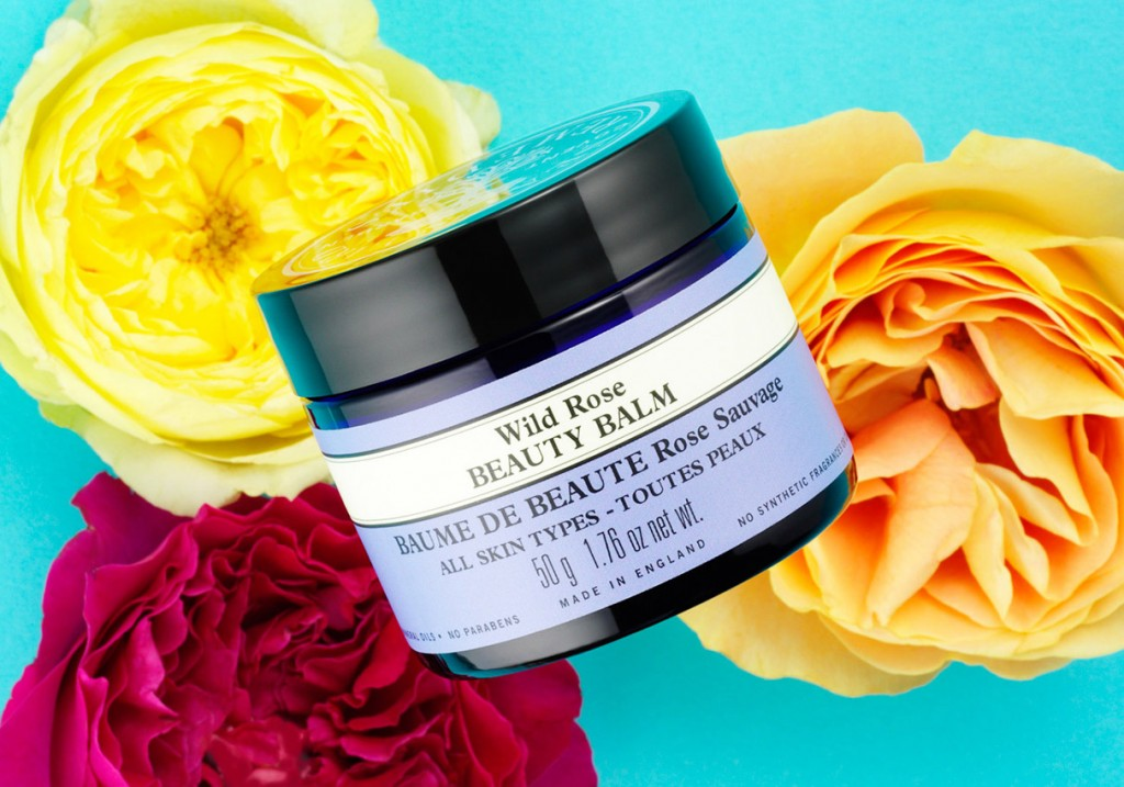marks and spencer beauty still life, beauty balm on blue background with roses, beauty product photography, still life photography, David Parfitt, still-life, still-life photography, still-life photographer, still-life photographer London, David Parfitt, advertising photographer