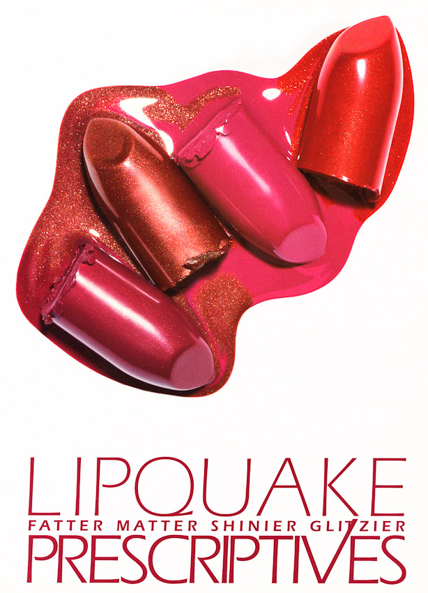 Makeup, Lipquake Prescriptives campaign, lipsticks, still life by David Parfitt, beauty, beauty product photography, beauty still life, beauty product photographer, make up photography, lip stick photography, still-life photographer, still-life photographer London, David Parfitt, advertising photographer