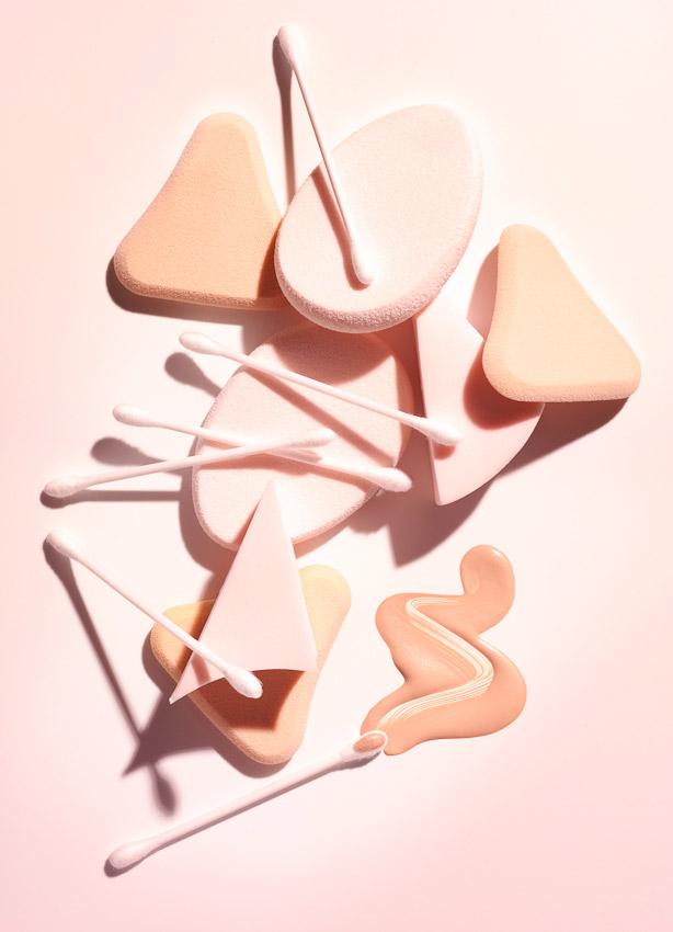 make-up, cosmetics, sponges, foundation, David Parfitt Photography
