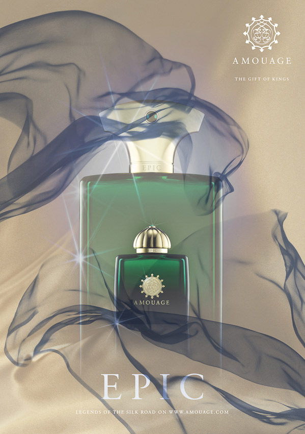 Amouage fragrance campaign, Epic, fragrance photography, fragrance still life, perfume photography, perfume still life, still-life photographer, still-life photographer London, David Parfitt, advertising photographer