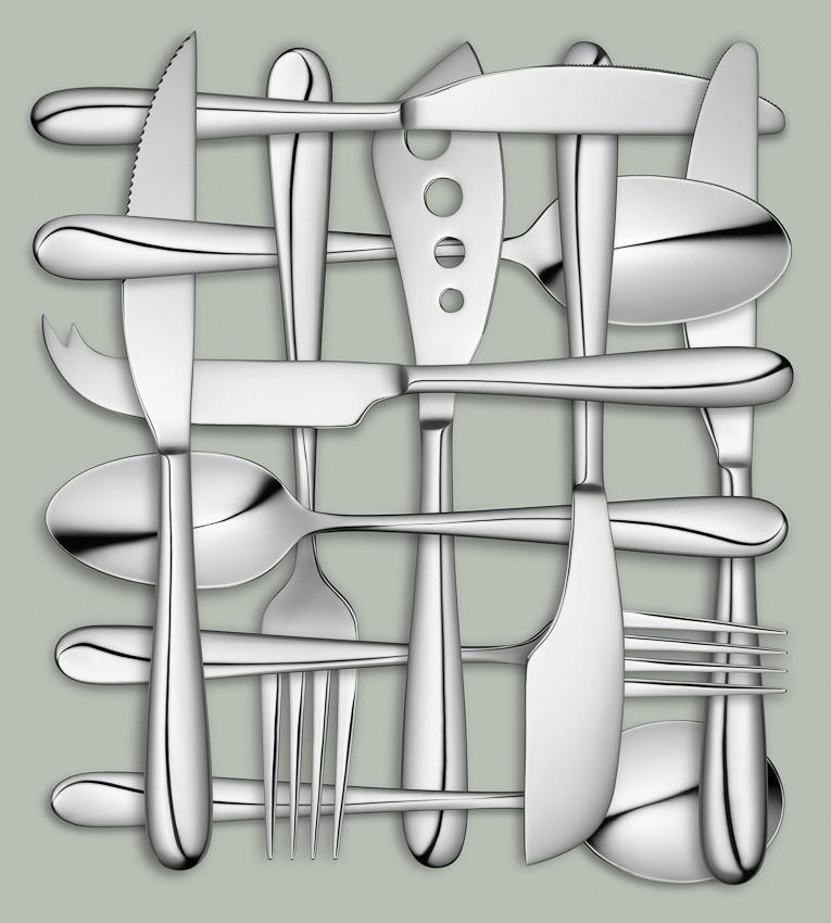 cutlery weave, John Lewis cutlery, still-life photographer, still-life photography, still-life photographer London, product photography, cutlery photography. packaging photography, David Parfitt
